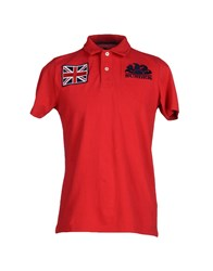 Sundek Topwear Polo Shirts Men Red