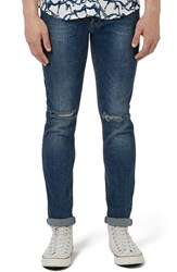 Men's Topman 'Vintage' Ripped Stretch Slim Jeans