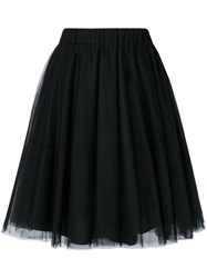 P.A.R.O.S.H. Tulle Gathered Skirt Women Polyamide Acetate Viscose S Black