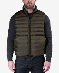 Hawke And Co. Outfitter Outfitters Men's Reversible Packable Vest Loden Black Floral Print