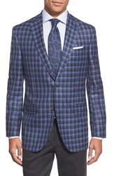 David Donahue 'Conner' Classic Fit Plaid Wool And Cashmere Sport Coat Blue