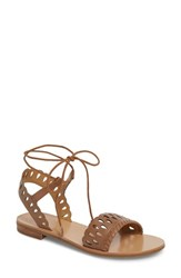 Jack Rogers Ruby Perforated Sandal Cognac Leather
