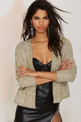 Nasty Gal J.O.A. Sparkle Note Lurex Cardigan