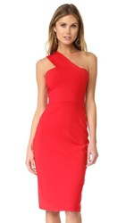 Susana Monaco Tina One Shoulder Dress Perfect Red