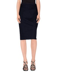 Caractere Skirts Knee Length Skirts Women Dark Blue