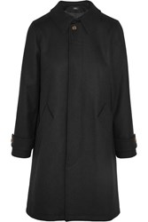 A.P.C. Atelier De Production Et De Creation Dinard Wool Blend Felt Trench Coat Black