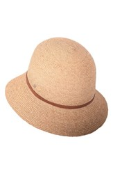 Helen Kaminski Raffia Cloche Brown Natural Tan