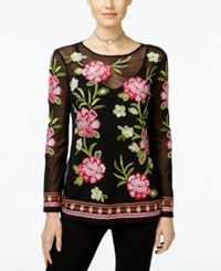 Inc International Concepts Embroidered Mesh Top Only At Macy's Pink Sachet