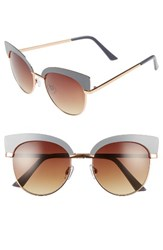 Women's Bp. 53Mm Cat Eye Sunglasses Grey Gold Grey Gold