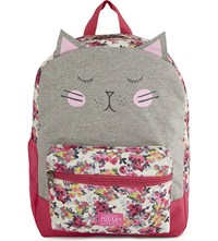 Joules Cat And Floral Print Backpack Multi Christmas
