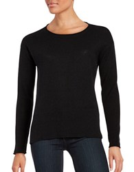 Lord And Taylor Long Sleeve Cashmere Pullover Black