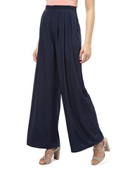 Miss Selfridge Extreme Wide Leg Trousers Blue