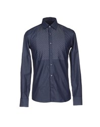 Roberto Pepe Denim Denim Shirts Men Blue