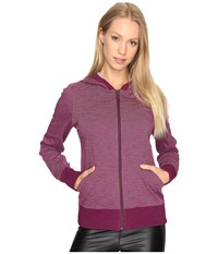 Lole India Hooded Cardigan Plum Caspia Women's Sweater Pink
