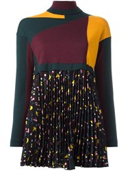 I'm Isola Marras Pleated Inset Cropped Jumper
