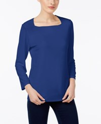 Inc International Concepts Square Neck Top Only At Macy's Goddess Blue