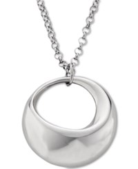 Nambe Crescent Pendant Necklace In Sterling Silver Only At Macy's