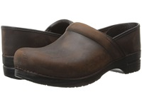 Dansko Professional Oiled Leather Men's Antique Brown Oiled Leather Men's Clog Shoes