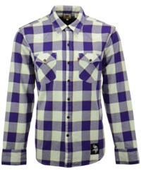Levi's Men's Minnesota Vikings Plaid Barstow Western Long Sleeve Shirt Purple