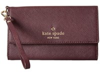 Kate Spade Cedar Street Phone 6 Wristlet Mahogany Cell Phone Case