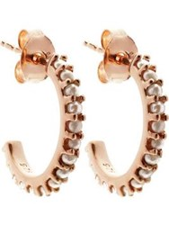 Lola Rose Pearl Small Hoop Earrings Gold Rose Gold