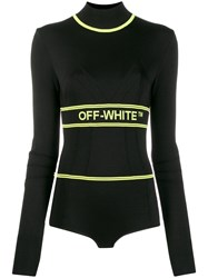 Off White Athletic Logo Top Black