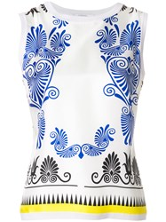 Versace Collection Printed Tank Top Multicolour