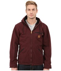Carhartt Sierra Jacket Port Men's Coat Burgundy