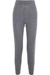 N.Peal Cashmere Track Pants Gray
