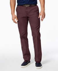 Tommy Hilfiger Men's Custom Fit Chino Pants Tawny Port