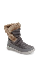 The North Face Women's Microbaffle Waterproof Thermoball Insulated Winter Boot Smoked Pearl Subtle Grey