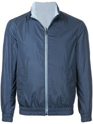 Gieves And Hawkes Classic Bomber Jacket Blue