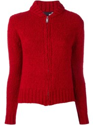 Love Moschino Peace Cardigan Red