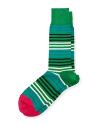 Paul Smith Sanny Striped Socks Green