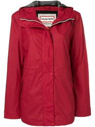 Hunter Hooded Waterproof Jacket Red