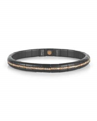 Roberto Demeglio Pura Matte Black Ceramic And 18K Rose Gold Bracelet With Champagne Diamonds 1.11 Tdcw