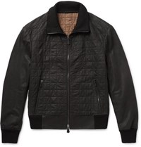 Berluti Quilted Leather Jacket Black