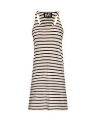 Nlst Striped Tank Dress White Navy