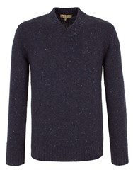 Gibson Plain Shawl Neck Pull Over Jumpers Navy