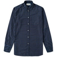 Universal Works Funk Check Shirt Blue