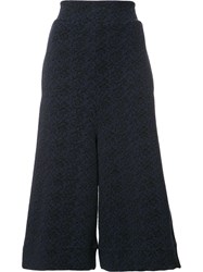 Vivienne Westwood Anglomania Flared Cropped Trousers Blue