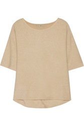 Halston Metallic Wool And Angora Blend Sweater