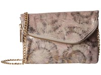 Hobo Daria Metallic Star Burst Clutch Handbags White