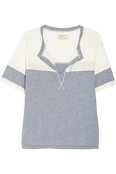 Current Elliott The Football Color Block Heathered Jersey T Shirt Blue