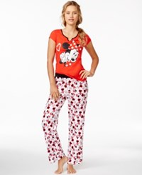 Briefly Stated Minnie Mouse Top And Pajama Pants Set