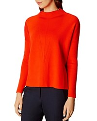 Karen Millen Funnel Neck Sweater Orange
