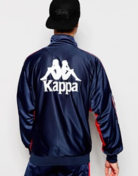 Kappa Track Jacket With Back Print Navy