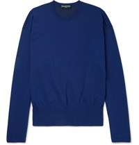 Balenciaga Stretch Knit Sweater Blue