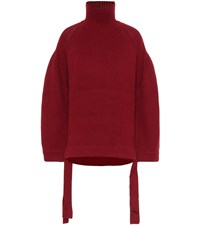 Ellery Wallerian Rib Knit Sweater Red