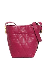 Givenchy Mini Gv Quilted Leather Bucket Bag Purple